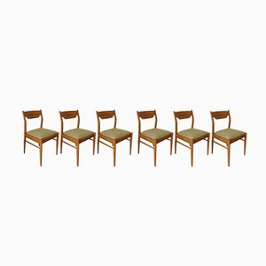 Scandinavian Velvet Chairs by Johannes Andersen for Farstrup, 1960s, Set of 6