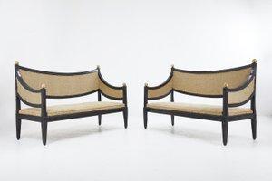 Italienische Sofas, 18. Jh., 2er Set