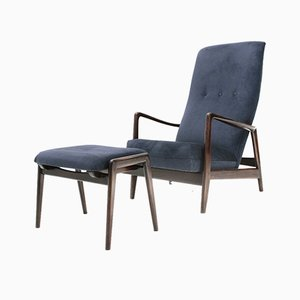 Armchair and Pouf by AdolfRellingand RolfRastad for Cassina, 1960s