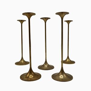 Large Hi-Fi Candleholders by Max Brüel for Torben Ørskov, 1960s, Set of 5