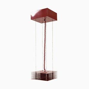 Lampada vintage in acciaio laccato di Ettore Sottsass