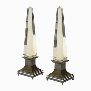 Vintage Obelisken von Sandro Petti für Maison Jansen, 2er Set