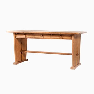 Double-Sided Oak Desk by Bas Van Pelt for Ems Overschie, 1930s