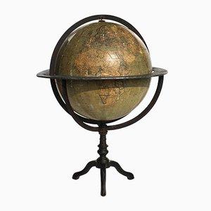 Antiker terrestrischer italienischer Globus von Guido Cora, 1900er