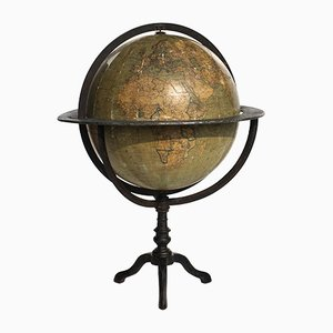 Globe Terrestre Antique par Guido Cora, Italie, 1900s