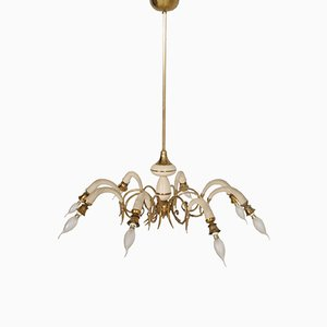 Art Deco Italian 8-Arm Chandelier, 1930s
