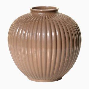 Art Deco Ceramic Vase by Giovanni Gariboldi for San Cristoforo Ginori, 1930s