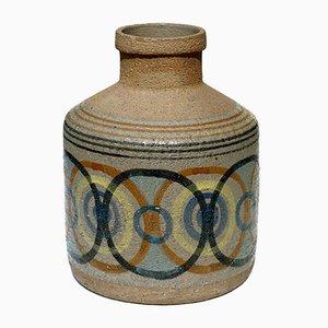 Jarrón de cerámica pintada de Antonio Salvador Orodea, años 60