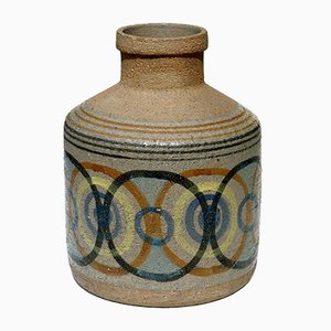 Painted Ceramic Vase by Antonio Salvador Orodea, 1960s