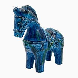 Cavallo in ceramica di Aldo Londi per Bitossi, anni '60