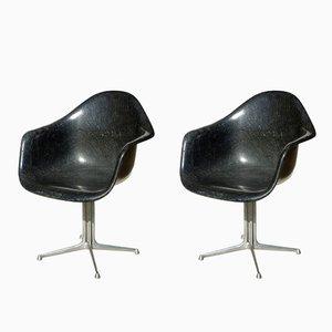Sedie in vetro in fibra La Fonda di Charles & Ray Eames per Herman Miller, anni '60, set di 2