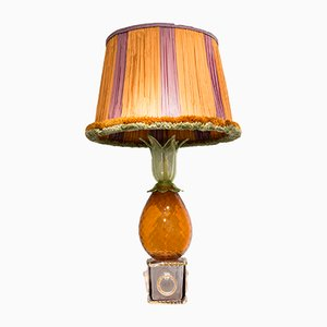 Mid-Century Pineapple Glass Table Lamp from Seguso