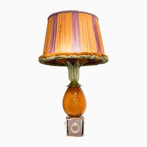 Mid-Century Tischlampe aus Glas in Ananas-Optik von Seguso