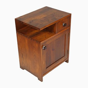 Art Deco Larch Nightstand, 1930s