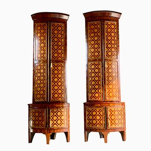 18th-Century Dutch Corner Cabinet Set, 1780s