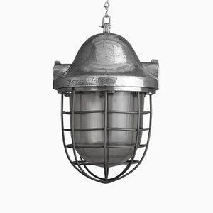 Lámpara colgante checa grande de aluminio, años 50