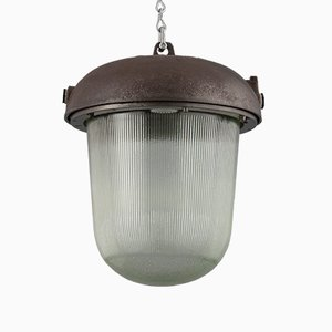 Lámpara colgante industrial vintage, años 50