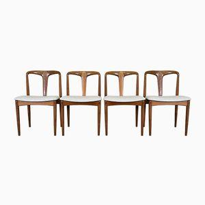 Vintage Esszimmerstühle mit Gestell aus Teak von Johannes Andersen für Uldum Møbelfabrik, 4er Set