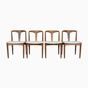 Vintage Teak Dining Chairs by Johannes Andersen for Uldum Møbelfabrik, Set of 4
