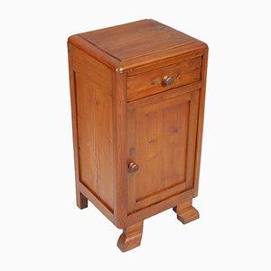 Art Deco Rustic Pine Nightstand