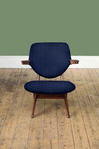 Customizable Pelican Armchair by Louis van Teeffelen for WéBé in Dark Blue