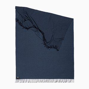 Zigzag Blues Deep Splendor Throw by Catharina Mende