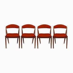 Personalisierbare Modell 31 Esszimmerstühle von Kai Kristiansen, 4er Set