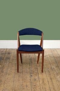 Customizable Model 31 Dining Chairs by Kai Kristiansen, Set of 4 in Dark Blue