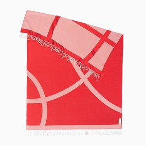 Red Organic Shape x Light Companion Scarf by Catharina Mende