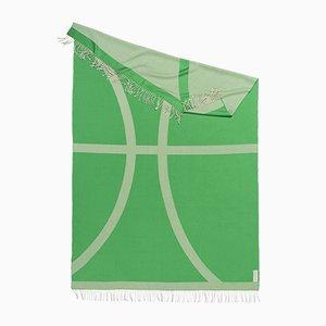 Bufanda con forma orgánica verde colección Light Companion de Catharina Mende