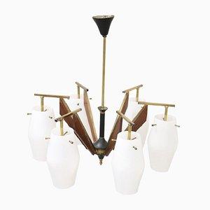 Lámpara de araña vintage de Stilnovo, años 50