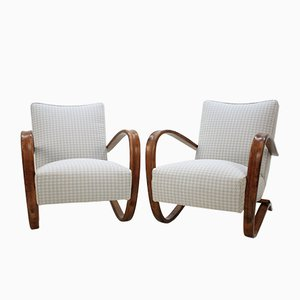 Vintage H-269 Armchairs by Jindrich Halabala, Set of 2