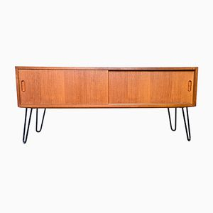 Danish Teak Media Sideboard by Carlo Jensen for Hundevad Co., 1960s