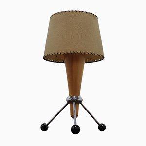 Lámpara de mesa Mid-Century en forma de cohete, años 60