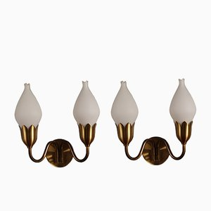 Danish Tulip Sconces from Fog & Mørup, 1950s, Set of 2