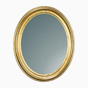 Specchio in legno dorato, XIX secolo