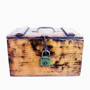 Caja vintage de madera maciza