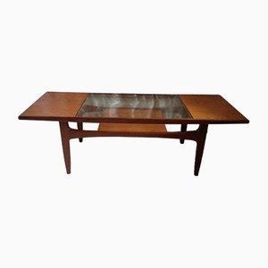 Table Basse en Verre et Teck par Victor Wilkins pour G-Plan, 1960s
