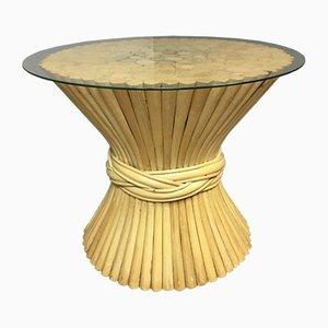 Tavolino in vimini e bambù di McGuire, anni '60