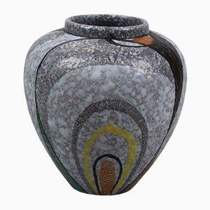 Mid-Century Keramikvase von Flora Plateelbakkerij