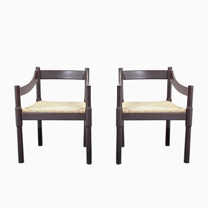 Vintage Carimate Chairs by Vico Magistretti for Cassina, Set of 2