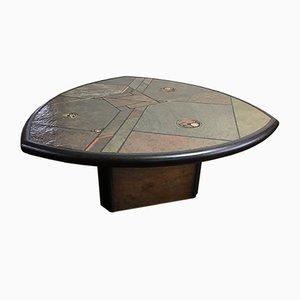 Tavolino brutalista di Fedam, anni '80