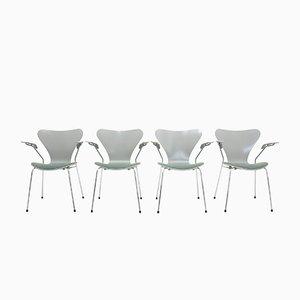 Chaises Vintage par Arne Jacobsen pour Fritz Hansen, Set de 4