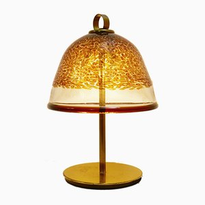 IB Tre Italian Brass & Murano Glass Table Lamp by Gae Aulenti, 1960s