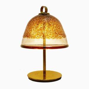 Italienische IB Tre Tischlampe aus Messing & Muranoglas von Gae Aulenti, 1960er