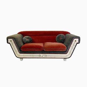 Sofá de dos plazas italiano vintage, años 70