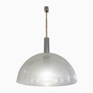 Lampada in vetro di Murano pulegoso a quattro strati di Carlo Nason per Mazzega, anni '60