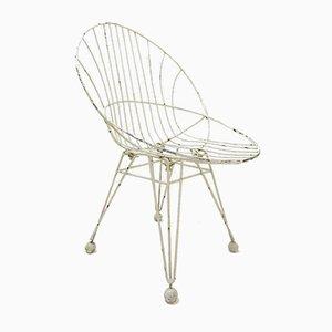 Chaise en Métal Mid-Century par Cees Braakman pour Pastoe, 1950s