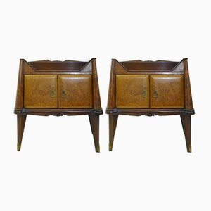 Art Deco Italian Bedside Tables, 1950s, Set of 2
