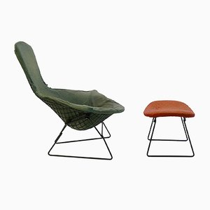 Chaise et Ottomane Bird par Harry Bertoia, 1960s
